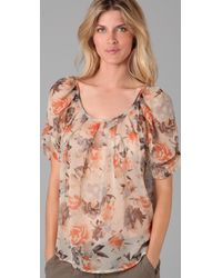 Joie - Multicolor Eleanor Shadow Floral Blouse - Lyst