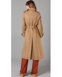 See By Chloé | Natural Double Breasted Long Coat | Lyst