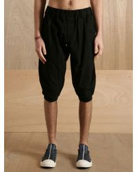 Yohji Yamamoto - Black Mens Short Pants for Men - Lyst