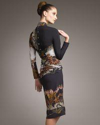 Etro - Black Asymmetric-neck Panel Dress - Lyst