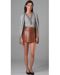 Jenni Kayne | Gray Stripe Cardigan Sweater | Lyst