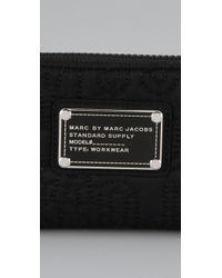 Marc By Marc Jacobs   Black Pretty Nylon Slim Zip Wallet   Lyst