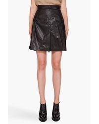 McQ | Black Leather Skirt | Lyst