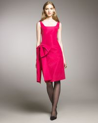Oscar de la Renta | Pink Side-bow Cocktail Dress | Lyst