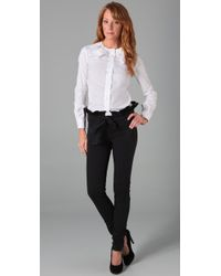 RED Valentino | Black Skinny Jeans with Tie | Lyst