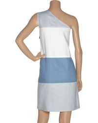 See By Chloé - Blue Asymmetric Color-block Dress - Lyst