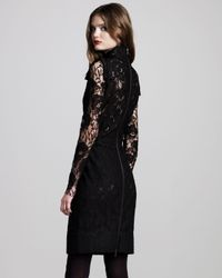Lanvin - Black Ostrich Feather-Trimmed Jersey One-Shoulder Gown - Lyst