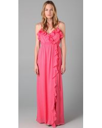 MILLY | Pink Stephanie Maxi Dress | Lyst