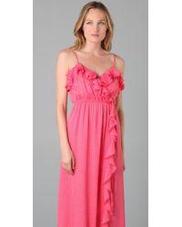 MILLY - Pink Stephanie Maxi Dress - Lyst