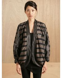 Pow Wow | Gray Womens Striped Bat Jacket | Lyst