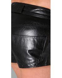 Theyskens' Theory - Black Nabi Leather Shorts - Lyst