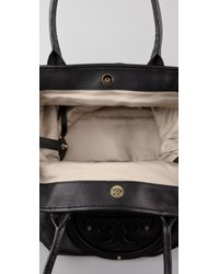 Tory Burch - Black Stacked Logo Summer Tote - Lyst