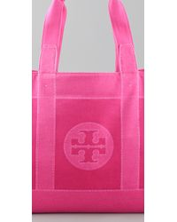 Tory Burch - Natural Straw Tory Tote - Lyst