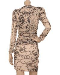 By Malene Birger | Pink Prinsiepa Printed Silk-georgette Dress | Lyst