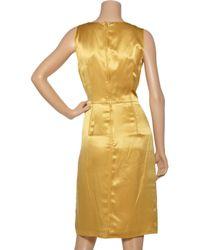 Dolce & Gabbana - Yellow Silk-satin Shift Dress - Lyst