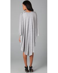 Holy Tee - Gray Gotham Dress with Cape Overlay - Lyst