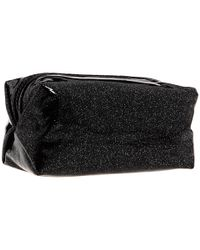 Juicy Couture - Black Glitter Small Cosmetic Bag - Lyst