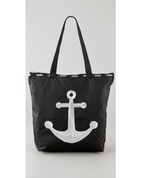 LeSportsac | Black Sequin Anchor Medium Shopper | Lyst