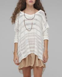 Free People | White Spending Time Pullover | Lyst