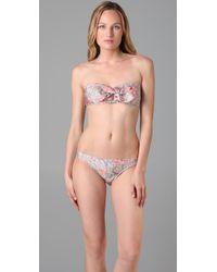 Zimmermann | Multicolor Frill Bandeau Bikini | Lyst