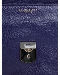 Balenciaga | Blue Padlock Clutch Bag | Lyst