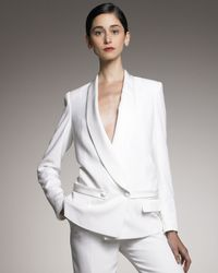 Saint Laurent | White Shawl-collar Tuxedo Jacket | Lyst