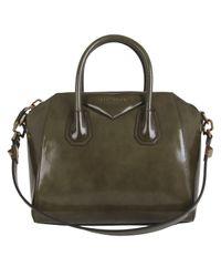 Givenchy | Green Khaki Spazzolato Antigona Tote Bag | Lyst