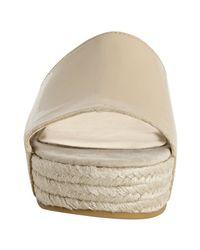 Steven by Steve Madden - Natural Blush Patent Leather Sezer Slide Sandals - Lyst