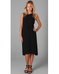 Max Azria | Black Crepe Dress with Gauze | Lyst