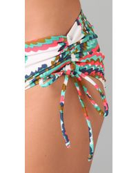 Tibi | Blue Marble Swirl Bikini Bottoms | Lyst