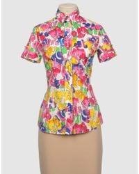 Versace | Multicolor Baroque Print Blouse | Lyst