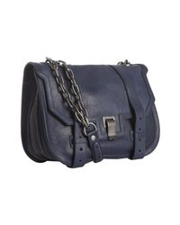 Proenza Schouler | Blue Leather Ps1 Mini Messenger Bag | Lyst