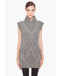 3.1 Phillip Lim | Gray 3d Cable Tunic in Grey Melange | Lyst