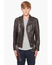 Marc Jacobs | Black Hand Dyed Leather Jacket for Men | Lyst