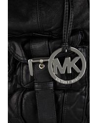 MICHAEL Michael Kors - Black Princeton Washed-leather Shoulder Bag - Lyst