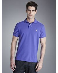Polo Ralph Lauren | Custom Fit Polo Shirt Mars Purple for Men | Lyst