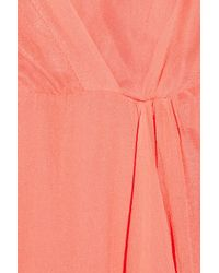 Sara Berman | Orange Margot Silk-georgette Dress | Lyst