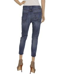 Current/Elliott | Blue The Tokyo Slim High-rise Cropped Jeans | Lyst