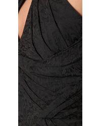 Zac Posen | Brown Halter Dress | Lyst