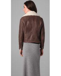 Acne Studios | Rite Moto Jacket in Brown | Lyst