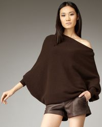 Alice + Olivia | Brown Amalie Off-the-shoulder Sweater | Lyst