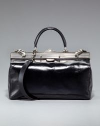 Balmain | Black Busy Frame-top Satchel | Lyst