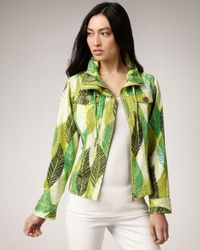 Berek | Green Leaf-print Jacket | Lyst