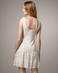 Maria Bianca Nero - White High-neck Crochet Dress - Lyst
