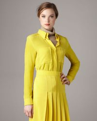 Chloé | Yellow Silk Crepe Blouse | Lyst