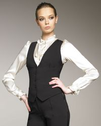 Dolce & Gabbana | Black Fitted Gilet | Lyst