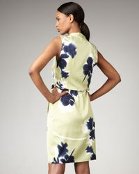 Elie Tahari | Blue Halley Floral-print Dress | Lyst