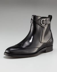 Ferragamo | Black Cyrano Wing-tip Boot for Men | Lyst