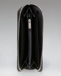 Ferragamo - Black Gancini Saffiano Zip Wallet - Lyst