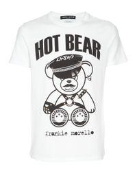 Frankie Morello | White Hot Bear T-shirt for Men | Lyst